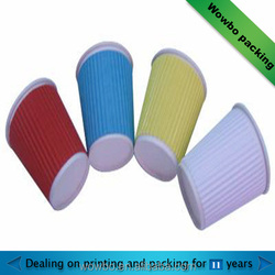 Custom Made Colorful Disposable Ripple Wall Paper Cup