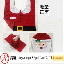 Very Popular 4 pieces Exquisite Christmas Santa toilet set for promotion