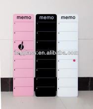 smooth surface glass memo notes board accessories