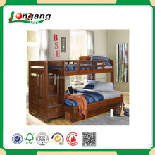 Queen Size Black PU Pushable Wood Frame Cheap Bunk Beds for Adults