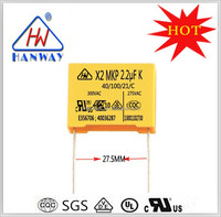 Factory direct Ultra capacitor X2 class interferon suppression condenser 225K 275VAC
