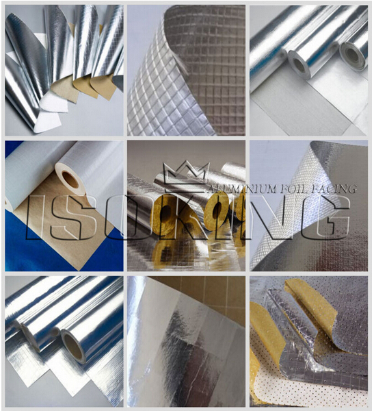 Corrugated paper backed fireproof aluminum foil insulation for Fireproof vapor barrier