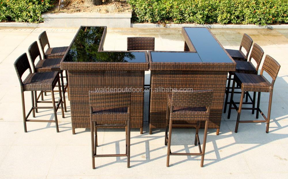 ... Bar furniture stool and table.jpg 209 - Home Bar Furniture / Outdoor Bar Table / Seaside Wicker Bar Stool
