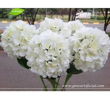 White Hydrangea Bouquet Cut Flowers Good Quality Decorative Artificial Flowers for Wedding GNW FLH07