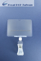 PVC plastic clear card sleeves for display price tag or signage
