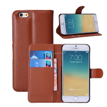 Nice craft manufactured leather smartphone dot view case for iphone 6