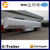 Fuel tank 42cbm capacity liquid tanker semi trailer