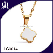 wholesale o link chain lucky shell pendant necklace