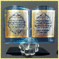 Wholesale Blue Glass Bible Book For Religious Wedding Gifts