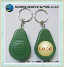 recordable sound plastic silicon keychain