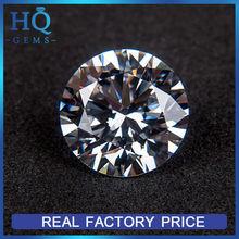 synthetic white cubic zirconia stone round machine cut cz gems zircon