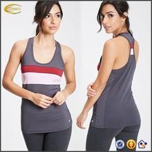 OEM wholesale sportwear women Colorblocked Athletic Tank mesh racerback golds plain gym tank tops