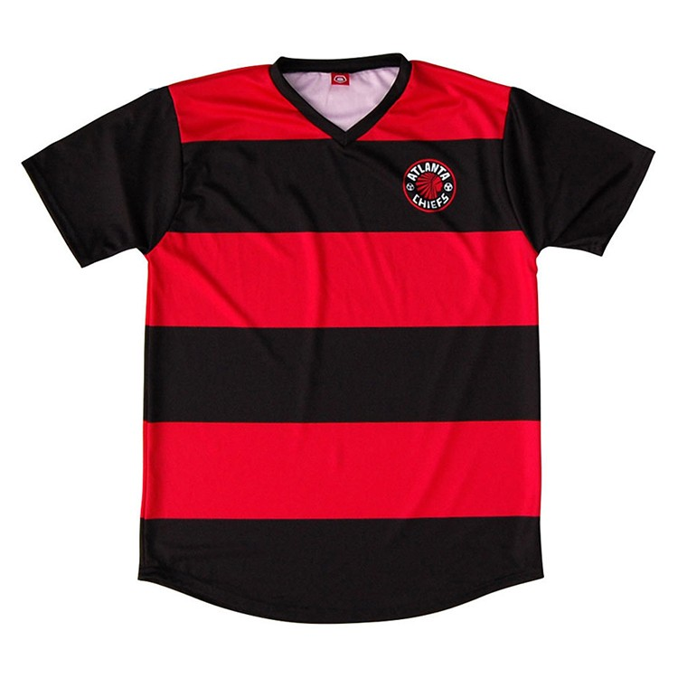 cheap black red soccer jersey