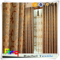 Elegant chenille jacquard style bedroom curtain styles fabric for textile- 100% blackout