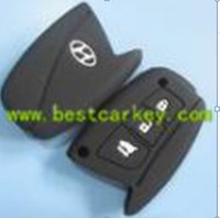 TopBest 3 buttons silicone remote cover for hyundai key silicone car key cover for hyundai