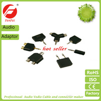 Male Jack Audio Y Adapter