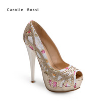 Chengdu quality peep toe new style girls fashion high heel shoes