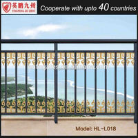 galvanized outdoor metal aluminum balcony stair railing