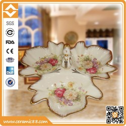 European style Home decoraction,ceramic fruit plate as wedding gifts