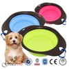 Silicone collapsible traveling pet bowl/ cat bowl/ dog bowl