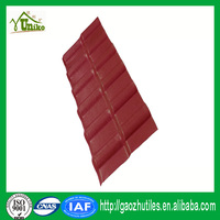 red color lasting europe style good quality waterproof synthetic roofing tiles for house