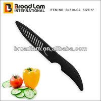 "Extremely Sharp 5"" Ceramic Utility Knife with PP Sheath White Blade & Black Handle"