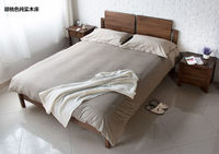 Alibaba china factory direct solid wooden bed frame