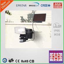 High quality Solar Security Garden Light with PIR Motion Sensor 12w outdoor flood lamps