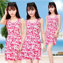 Sign summer new women's round neck sleeveless vest skirt color elastic waist was thin dress child Lady Apparel Dresses Casual Dr