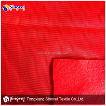 China direct textile factory 100% polyester golden velvet for garment,sportswear fabric brushed wholesale