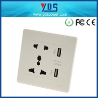 solar charger with ac wall socket, universal wall socket usb charger, usb outlet