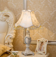 Table Lamp Handcrafted Tiffany Style table lamp fabric Shade