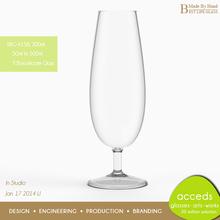 Hand Blown Water Goblet Glass