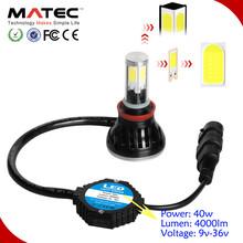 4X4 off road truck auto vehicle 4000lm per bulb led car headlight from MATEC
