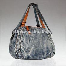 8645-fashion ladies fancy jeans hand bags 2012,handbag market