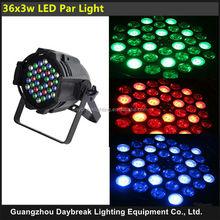 36x3w led par light stage led par light 7CH DMX512 high brightness RGB color mixing