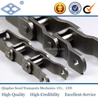 667K pitch 57.15 heavy duty cranked plate casting riveted steel pintle conveyor chain