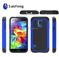 For galaxy samsung s5 mini multicolored hybird material phone case;3 in 1 football faceplate skin shell cover for s5 mini