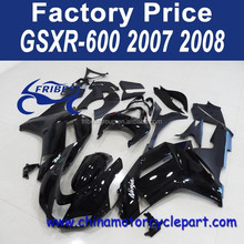 ABS Fairing Kit For KAWASAKI NINJA ZX6R ZX 6R 2007 2008 All Black Fairing Kit