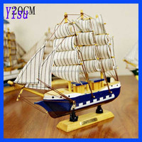 100% high quality 20cm wood carving crafts model sailboat