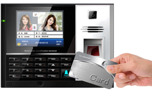 Biometric and Punch Card Attendance Machine with 3.5'' color LCD