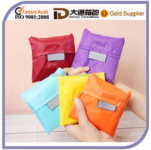 New Style Portable Polyester Colorful Fashion Wholesale Foldable Reusable Lady Shopping Bag