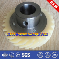 CNC Prototype Manufacturing Design Plastic Gear with Core Steel