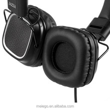 2015 comfortable leather wired communication high quality with stereo sound noise cancelling headphone