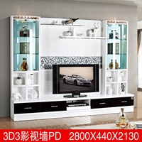 Hot selling wall units designs in living room 3D5# wood led tv wall unit