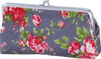 2015 new desigh printing flowers & plants PVC clip/clasp bag