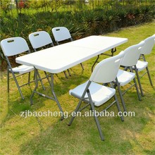 72inch/6ft/180cm plastic top blow molded plastic folding tables