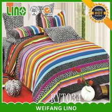 fashion duvet cover set/quality cotton bed duvet set/couple pillow case