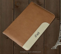 Hot! New Alibaba China High Quality Factory Price Real Cow Leather Smart Cover Case For APPLE iPad 2/3/4