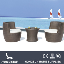 Oval Rattan outdoor furniture conversational set